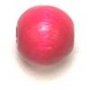 Wooden Bead Round 8mm Fuchsia